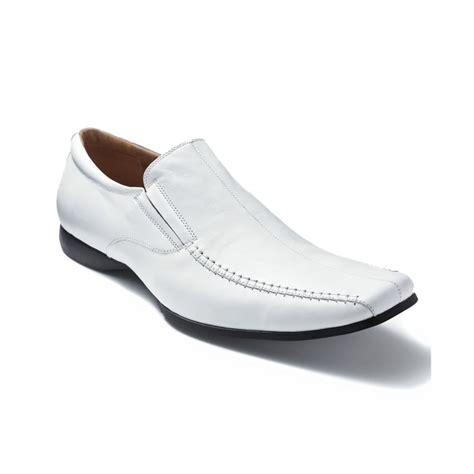 white dress shoes steve madden carano slipon dress shoes in white for lyst