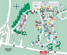 Penn State University Campus Map by Campus Map Penn State Harrisburg