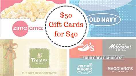 Panera Gift Card Expiration - 50 gift cards for 40 amc old navy panera jcpenneys more southern savers