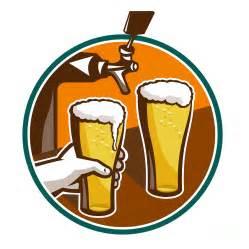beer pint glass hand tap retro digital art by aloysius