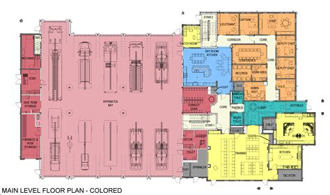 fire department floor plans new carver fire station project