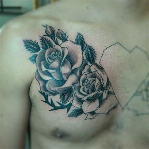 rose tattoos on chest 70 brilliant tattoos for chest