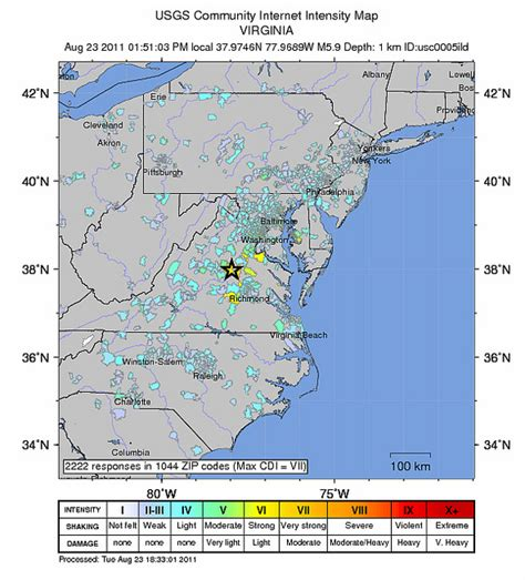 earthquake questionnaire virginia earthquake survey most americans not affected