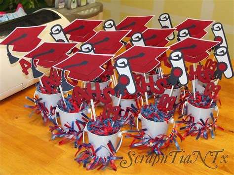 graduation centerpieces with pictures graduation centerpieces favors ideas