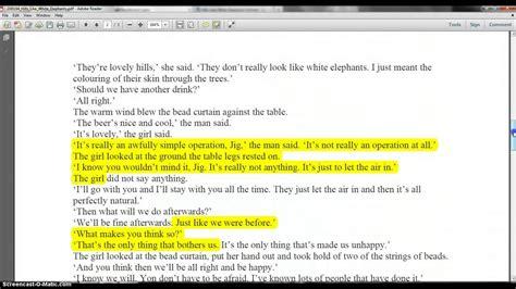 Like White Elephants Analysis Essay by Essay On Like White Elephants With Symbolism