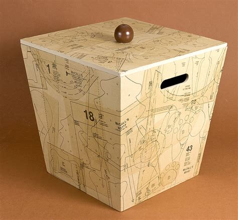 Decoupage Storage Boxes - decoupage sewing storage box favecrafts