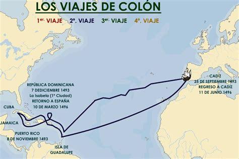 cuales fueron los barcos de cristobal colon mapa de los cuatro viajes de cristobal colon imagui