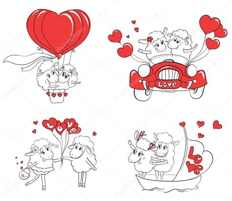 doodle happy wedding in set of pictures happy sheep idea