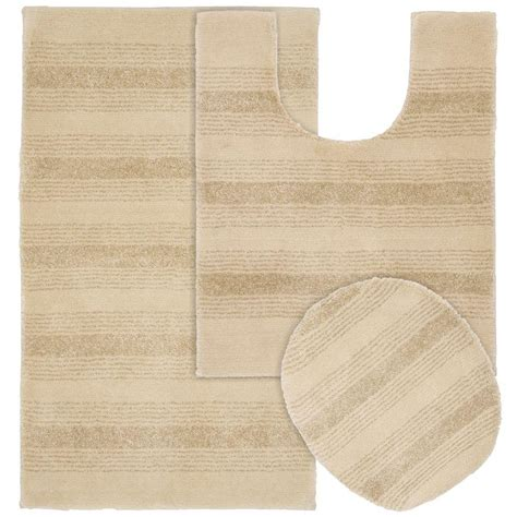 bathroom rugs set 3 piece garland rug essence linen 21 in x 34 in washable