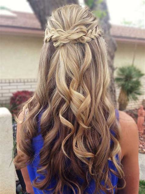 half up half down hairstyles for naturally curly hair 20 half up half down curly hairstyles long hairstyles