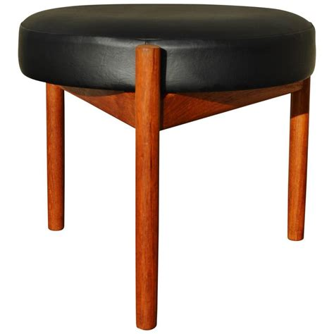Ottoman With Stools Teak Ottoman Or Stool By Spottrup With Tripod Base At 1stdibs