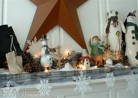 Hoosier Cabinet by How To Decorate Your Mantle For Winter Hoosier Homemade
