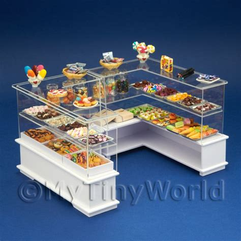 miniature world dolls house shop dolls house miniature stalls and stands dolls house miniature double counter sweet