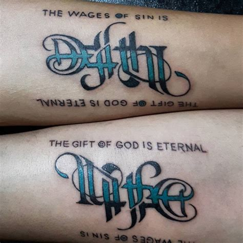 two word tattoos ambigram 13 tattoo ideas 2016 2017