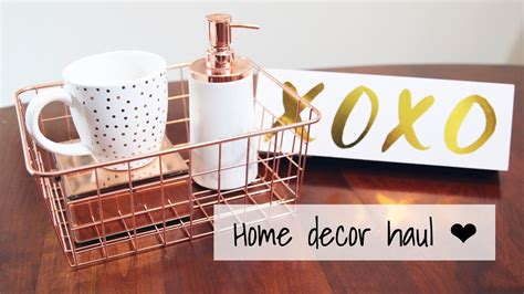 copper room decor haul lifewithchloe youtube rose gold copper collective home decor haul vday 2017