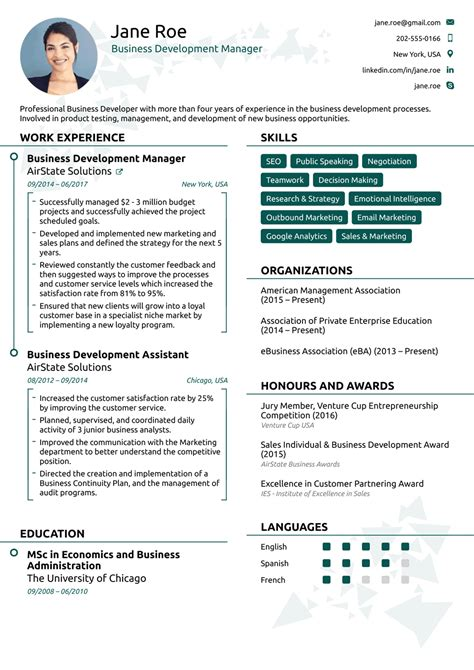 Modern Resume Exles by One Page Cv Layout Resume Objective Exles Best Resume