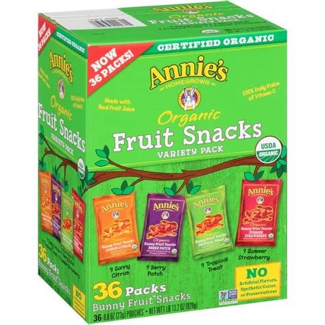 7 up fruit snacks s homegrown organic fruit snacks variety pack 36 ct