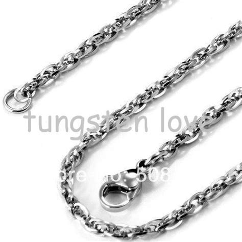Kalung Oval Stainless Steel Necklace 22 inch new arrivals unisex polished stainless steel necklace rolo oval cuban link chain silver