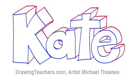 coloring pages of the name kate how to draw 3d letters kate