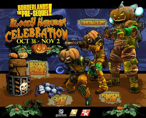borderlands the pre sequel shift codes gamesradar borderlands the pre sequel bloody harvest celebration