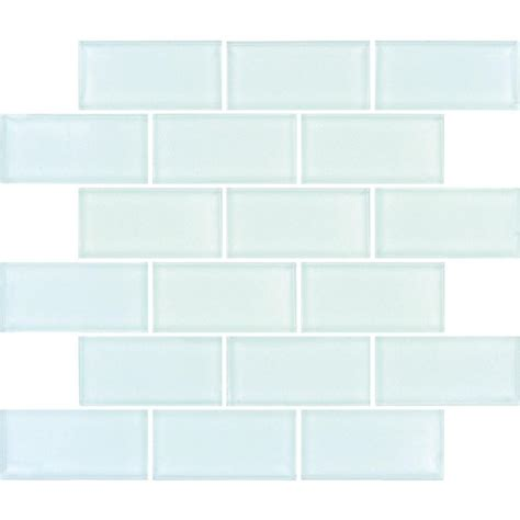 white glass tile marku home design glass subway tile arctic ice subway 12 in x 12 in x 8 mm glass mesh