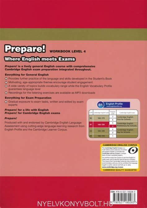 libro cambridge english prepare level cambridge english prepare workbook level 4 with downloadable audio nyelvk 246 nyv forgalmaz 225 s