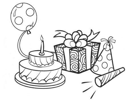 imagenes para colorear feliz cumpleaños dibujos de cumplea 241 os para colorear pintar e imprimir