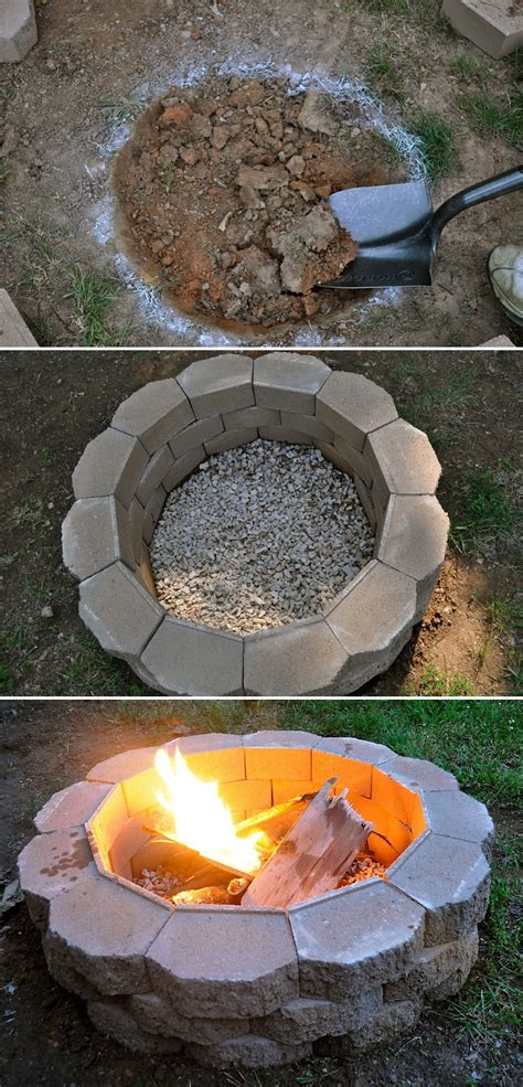 How To Build A Back Yard Diy Fire Pit It S Easy Yards How To Make A Simple Pit In Your Backyard