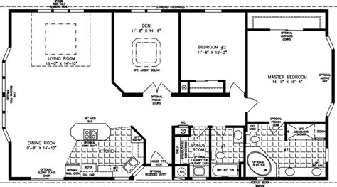 Jacobsen Mobile Home Floor Plans 1600 to 1799 sq ft manufactured home floor plans