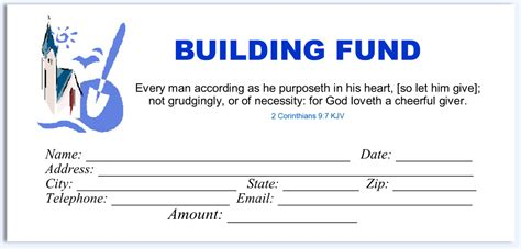building fund pledge card template quotes about building funds 32 quotes