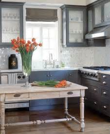 Painted Gray Kitchen Cabinets by Painted Kitchen Cabinets
