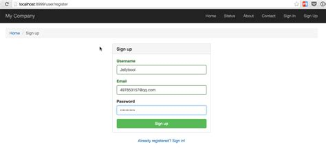 yii2 user yii2系列教程四 实现用户注册 验证 登录