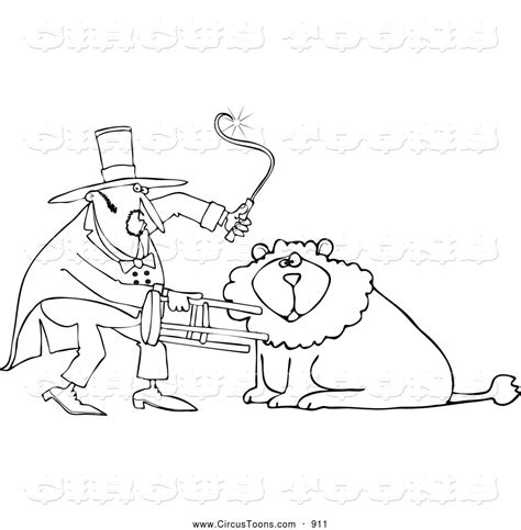 lion tamer coloring page free coloring pages of ringmaster