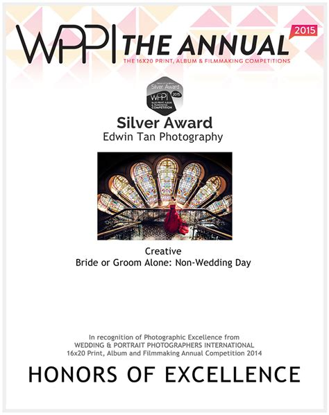 wedding and portrait photographers international 3 silver awards on 2015 wppi wedding and portrait