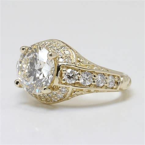 Wedding Rings Antique by Antique Style Wedding Rings That Are Conflict Free
