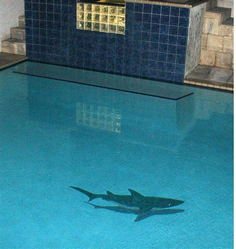 Ceramic Tile Murals For Kitchen Backsplash by Ceramic Shadowed Shark Mosaic