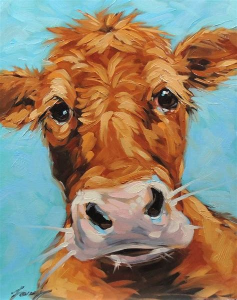 scow paintings cow painting 11x14 inch original oil painting of a