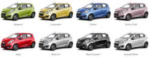 spark color 2013 chevrolet spark maximizes the mini car segment