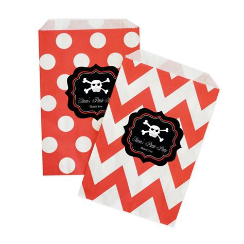 pirate party personalized birthday party favor goodie bags