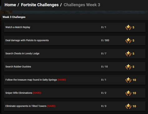 fortnite week 3 challenges fortnite season 4 week 3 challenges been leaked