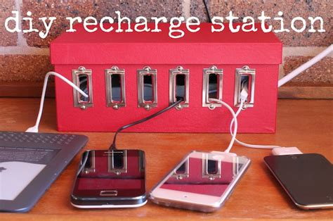 how to build a charging station how to diy device charging station make