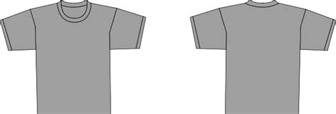 Grey T Shirt Template Clip Art At Clker Com Vector Clip Art Online Royalty Free Public Domain Grey T Shirt Template