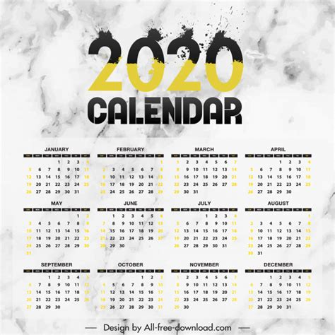 calendar template modern grunge ink number decor  vector  adobe illustrator ai ai
