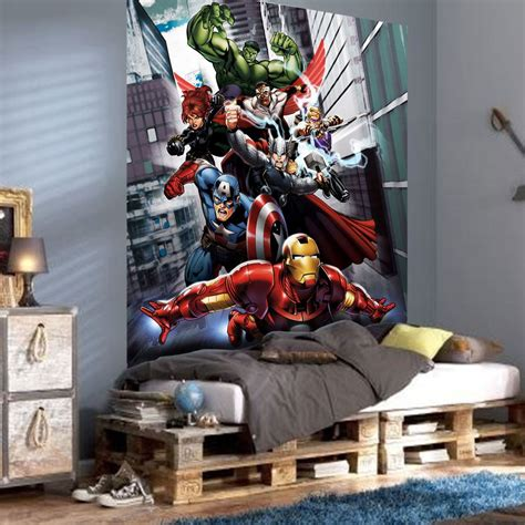 avengers home decor marvel comics and avengers wallpaper wall murals d 201 cor bedroom