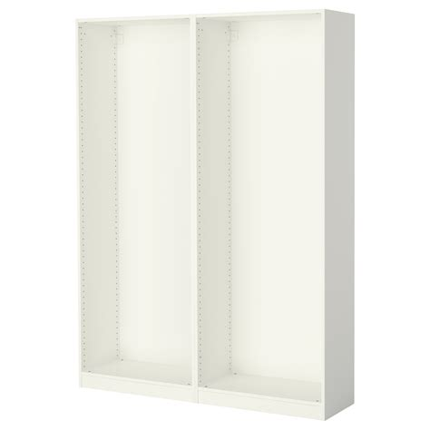 ikea pax wardrobe frame pax 2 wardrobe frames white 150x35x201 cm ikea