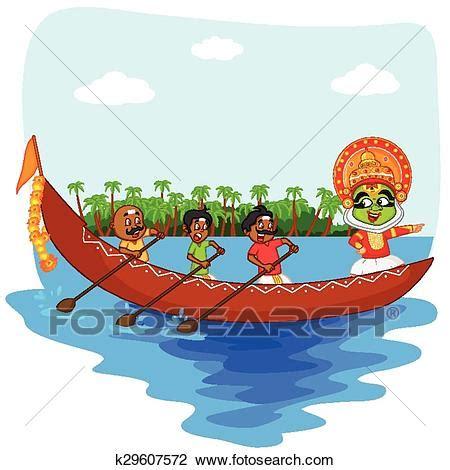 kerala boat race clipart clipart of kathakali dancer doing boat race of kerala for