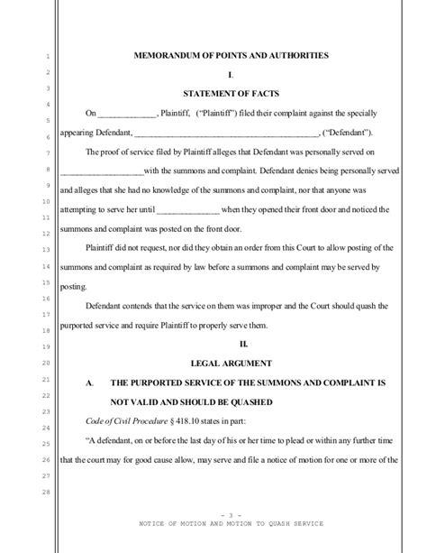 bench warrant jury duty sle motion to quash bench warrant motion