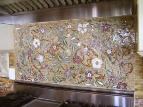 Kitchen Backsplash Medallions Mosaic Floral Backsplash Designer Glass Mosaics Designer