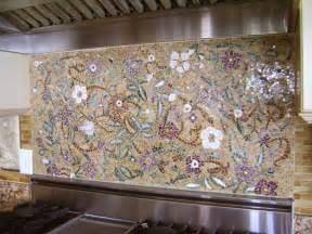 Kitchen Tile Backsplash Murals Mosaic Floral Backsplash Designer Glass Mosaics Designer