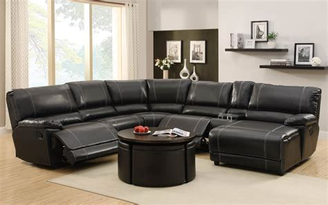 recliner living room set homelegance cale 3 reclining living room set in black leather beyond stores